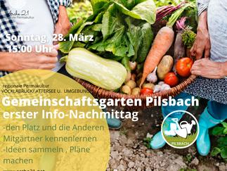 Gemeinschaftsgarten Pilsbach - erster Info-Nachmittag