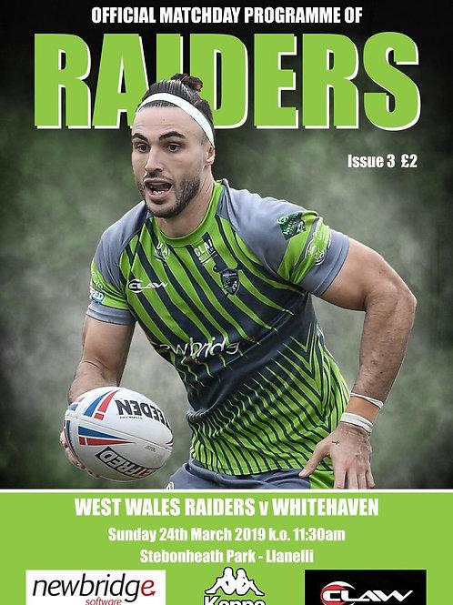 West Wales Raiders vs Whitehaven RLFC