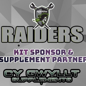 Cy Gwyllt Supplements joins the raiders as a kit sponsor and supplement partner for 2021.