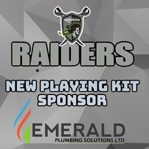 Raiders continue to add to their family with kit sponsors Emerald Plumbing Solutions.