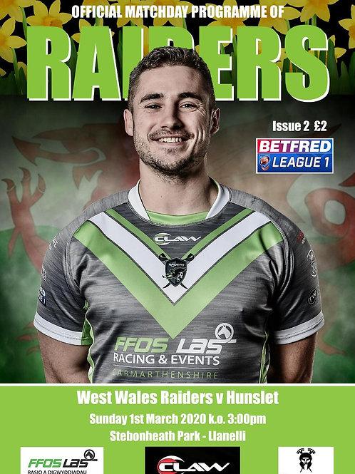 West WalesRaiders vs Hunslet RLFC