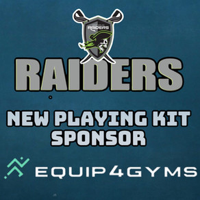 Equip 4 Gyms joins the Raiders as a kit sponsor for the 2021 season.