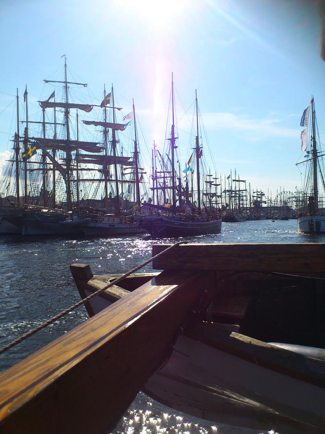 Ankunft auf der Hanse Sail in Rostock
