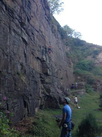 Climbing at Pant y Gasseg