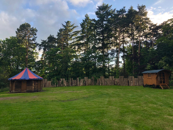Campsite Loos, Shepherds Hut and scots pines 2018