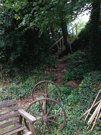 Campsite stairway