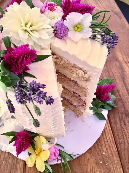 Edible Flower Buttercream Cake