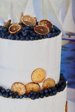 Semi-Naked Gluten Sensitive Wedding Cake