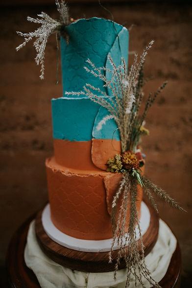 Moroccan Inspired Wedding Cake Cornwall