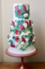 Floral Buttercream Painted Cake
