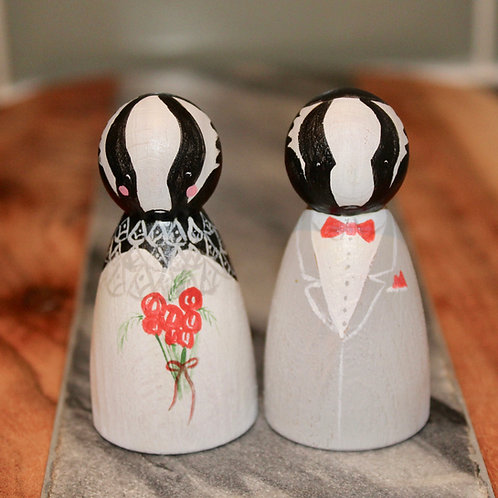 Badger & Sow Wooden Wedding Cake Toppers