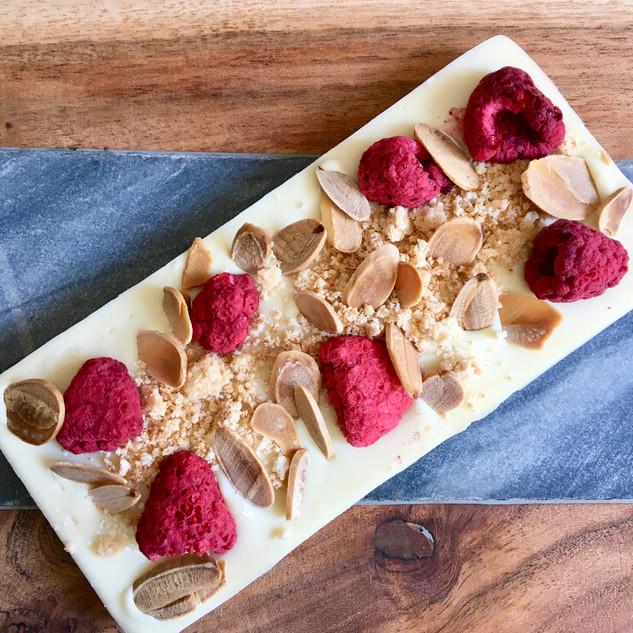 Raspberry & Almond Shortcake White Chocolate