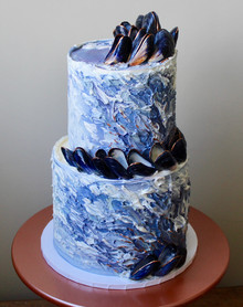 Ocean Spray Cake with real Mussles