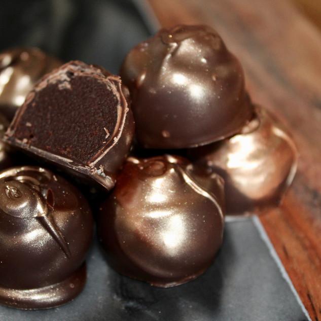 Orange & Earl Grey Dark Chocolate Truffles