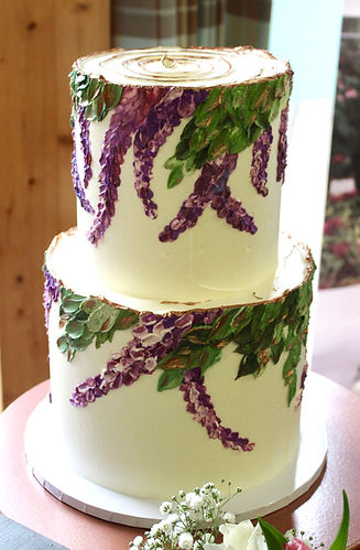 Painted Buttercream Wedding Cakes Cornwall