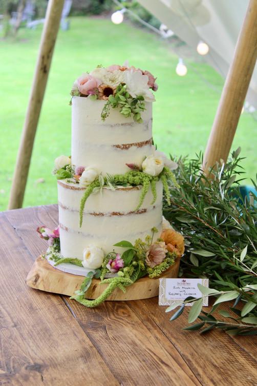 Edible FLower Semi-Naked Cake