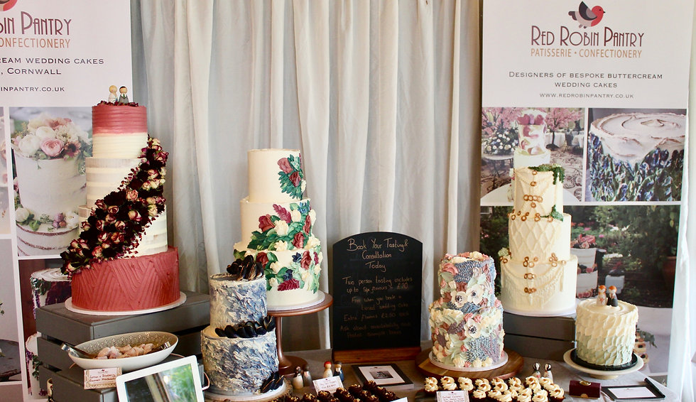 Cornwall Buttercream Wedding Cakes