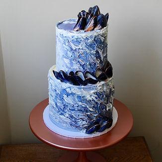 Mussel Ocean Wedding Cake Cornwall