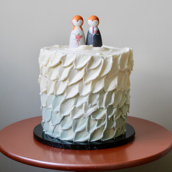 Painted Ombre Single Tier