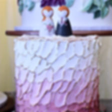 Painted Ombre Buttercream Wedding Cake