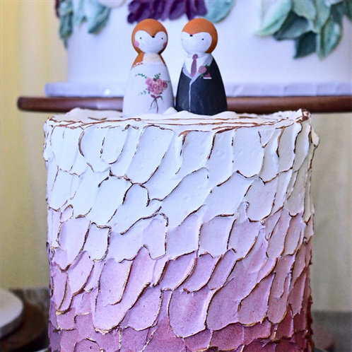 Fox & Vixen Wooden Cake Toppers