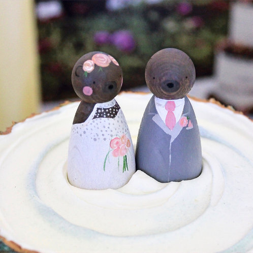 Bear & Sow Wooden Wedding Cake Toppers