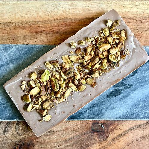 Cardamom & Pistachio Milk Chocolate Bar