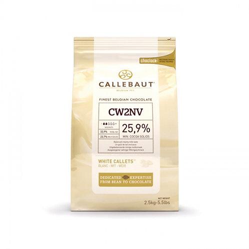Шоколад белый Callebaut Select 25,9%, пак 2,5 кг