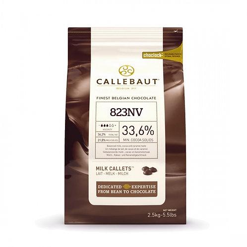 Шоколад молочный Callebaut Select 33,6%, пак 2,5 кг