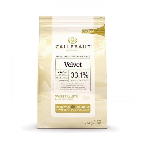 Шоколад белый Callebaut Velvet 33,1%, пак 2,5 кг