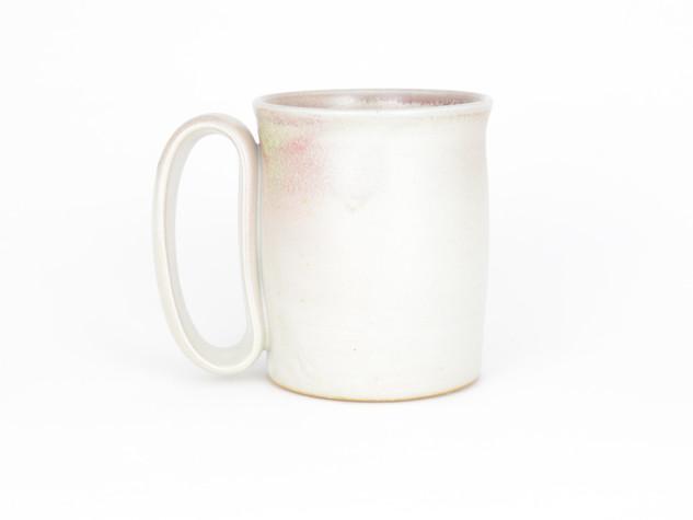 Satin White with Subtle Pink Blush