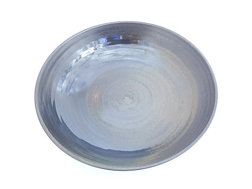 Matte Black Green Gloss Serving Bowl