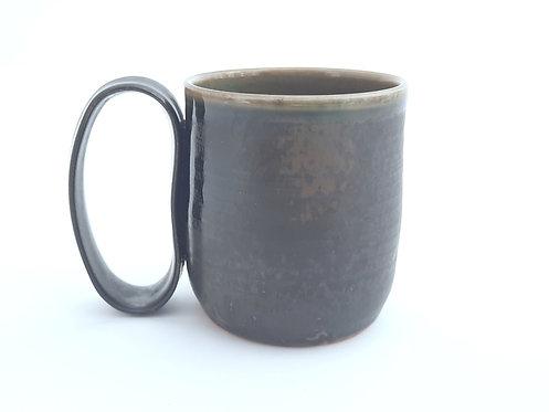 Mottled Matte Black Mug M12