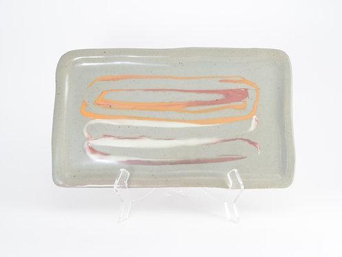Orange Red Slip Platter