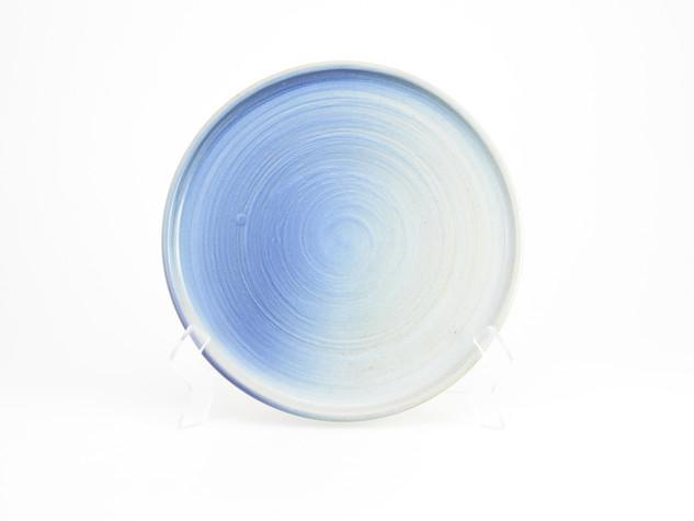 Satin White with Blue Blush