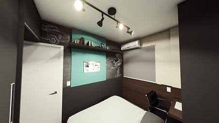 Interiores dormitório Lucas