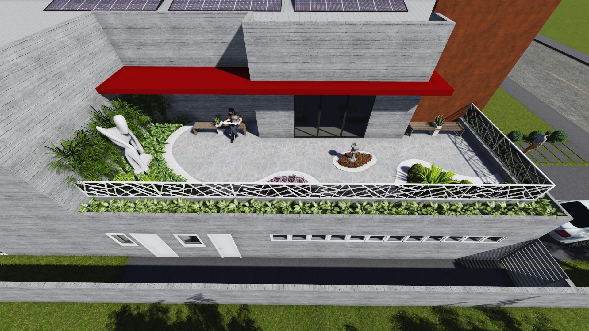 terraço jardim
