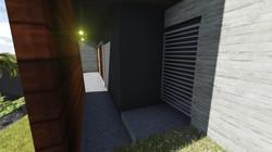 entrada lateral escondida