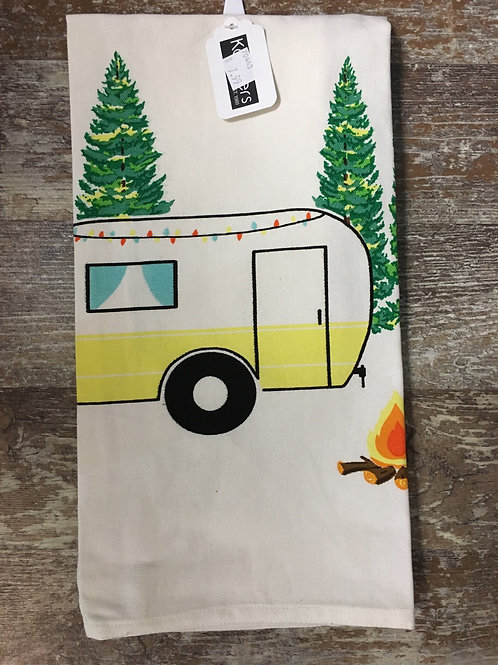Yellow Camper 100% Cotton Kitchen Tea Towel by Koppers