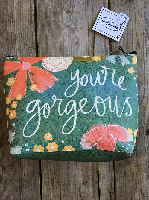 """""""You're Gorgeous"""" 8.5"""" x 6"""" x 2.5"""" Zippered Make Up Bag by Brownlow Gifts"""