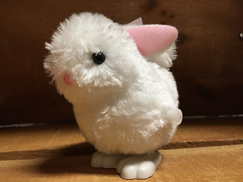 """3"""" Fluffy Wind Up Hopping Bunny"""