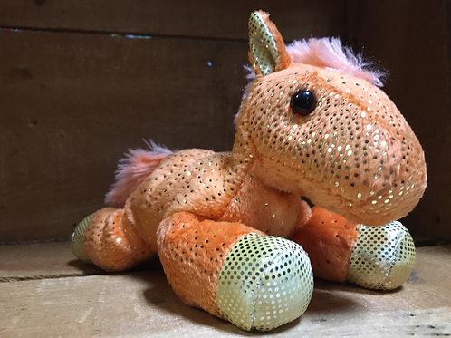 "7"" Orange Fantasy Pony Aurora Brand Plush Stuffed Animal"