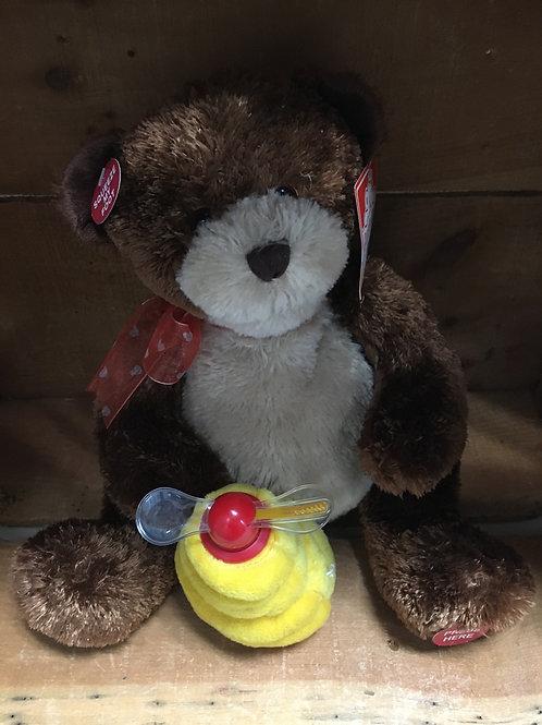 Hunny Bear Singing Cuddle Barn Plush Stuffed Animal