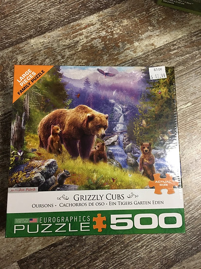 Grizzly Cubs500pc puzzle