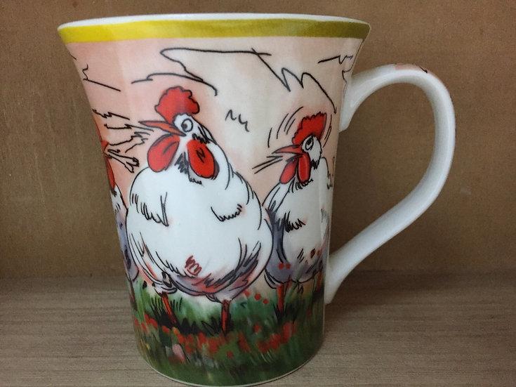 Rooster Pattern Ceramic Mug