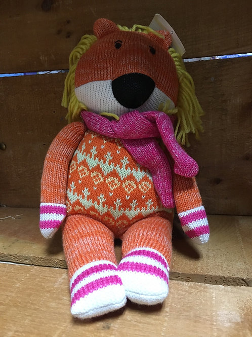 "9"" Lionel the Lion Sock Monkeez & Friends Brand Plush Stuffed Animal"