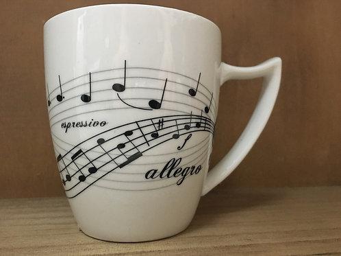 Musical Pattern Ceramic Mug