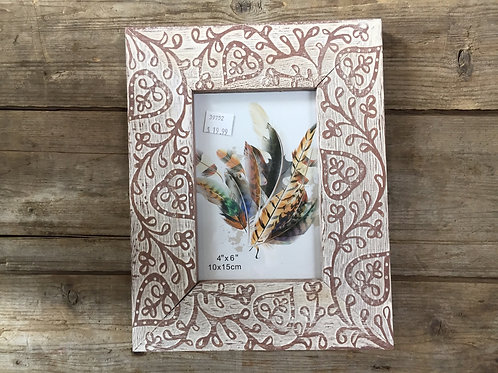 """9.5"""" x 7.5"""" Wood Sitting 4x6 Photo Picture Frame by Koppers Imports"""