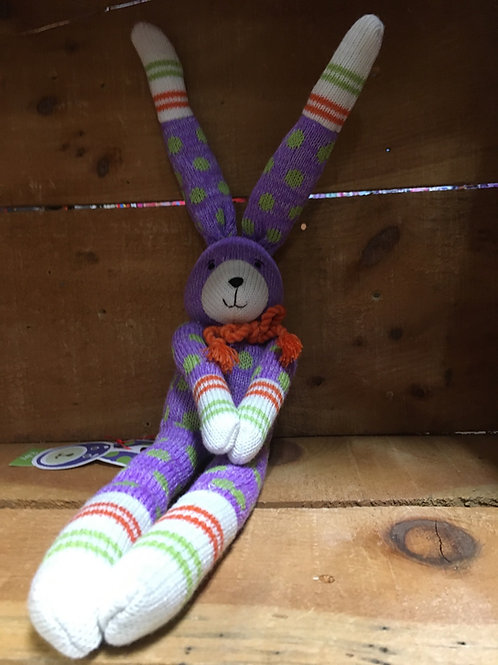 "13"" Ruby the Rabbit Sock Monkeez & Friends Brand Plush Stuffed Animal"