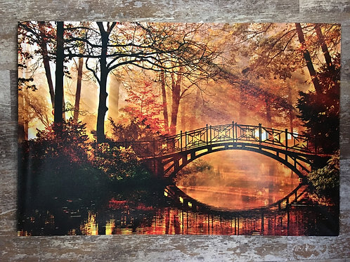 """23.5"""" x 15.5"""" Golden Sunset Bridge Canvas Print by GiftCraft"""